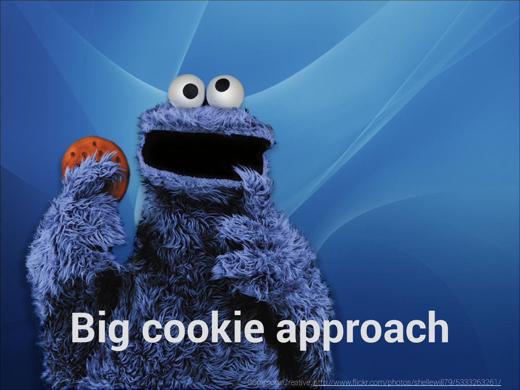 Big cookie approach CommonsCreative: http://www...