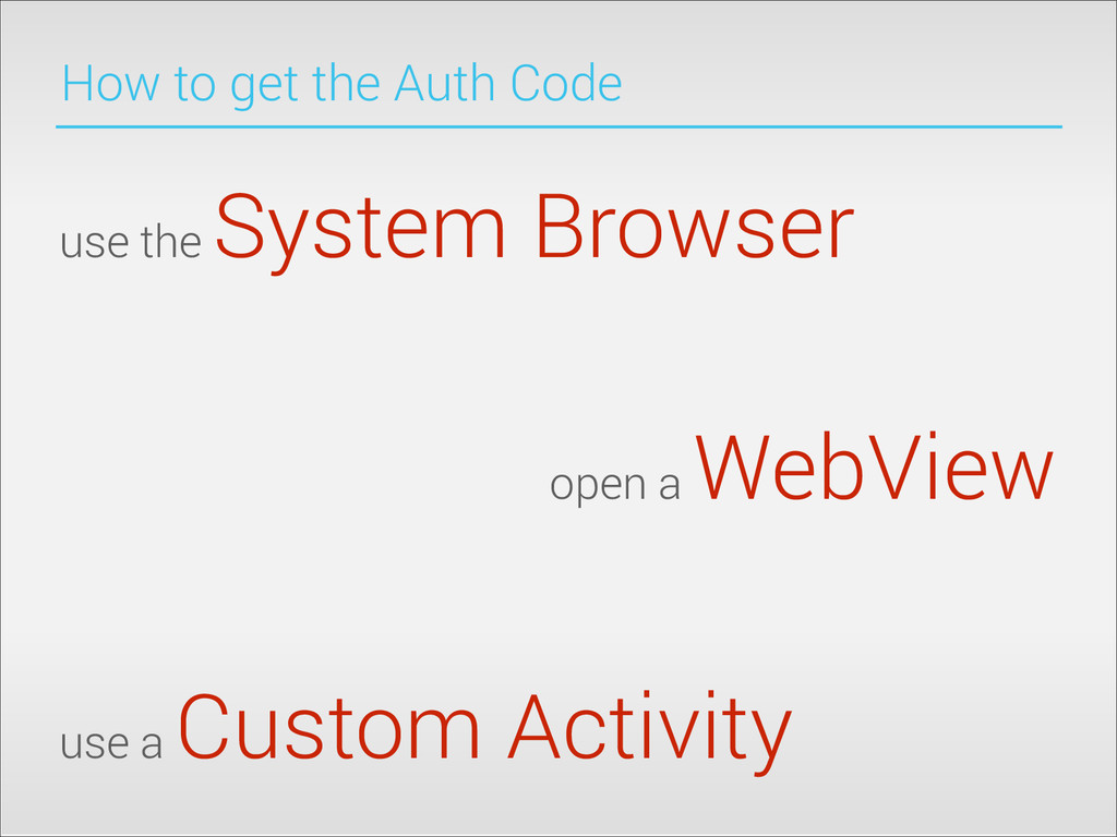 How to get the Auth Code use the System Browser...