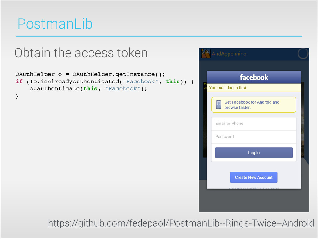 PostmanLib Obtain the access token OAuthHelper ...