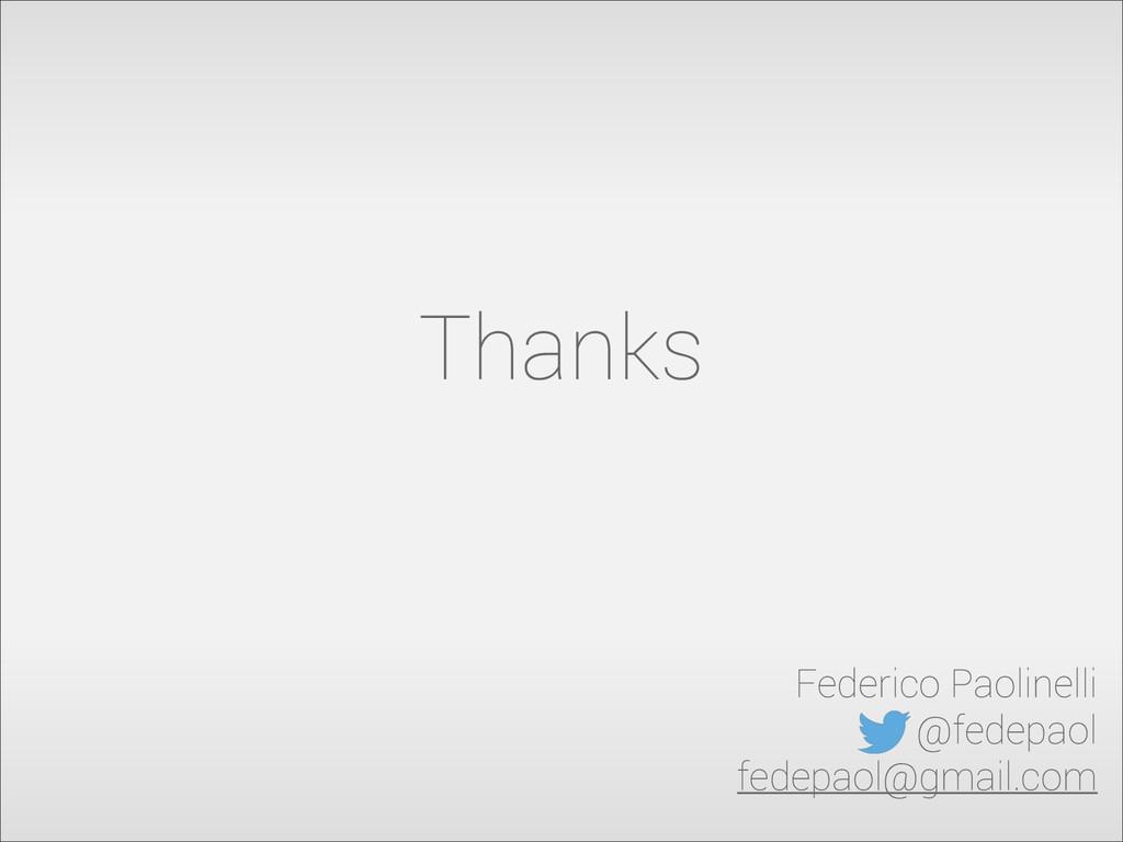 Thanks Federico Paolinelli @fedepaol fedepaol@g...
