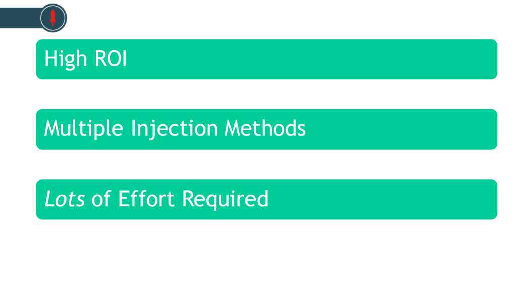 High ROI Multiple Injection Methods Lots of Eff...