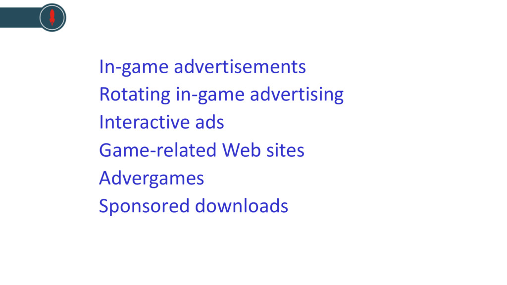 In-game advertisements Rotating in-game adverti...