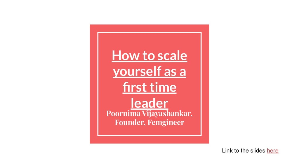 How to scale yourself as a first time leader Poo...