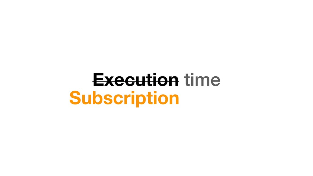 Execution time Subscription