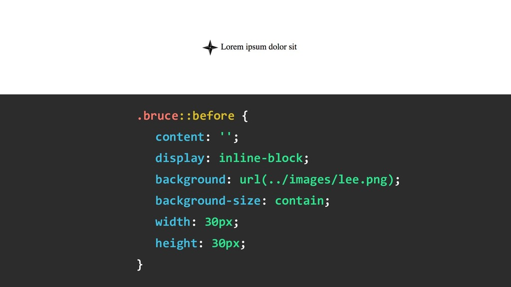 .bruce::before { content: ''; display: inline-...