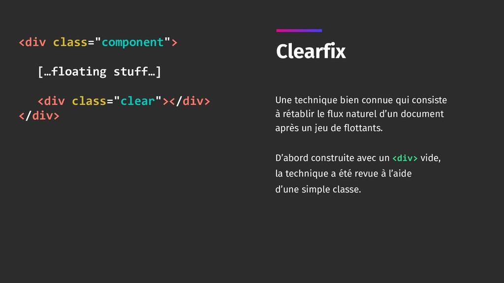 "<div class=""component""> […floating stuff…] <d..."