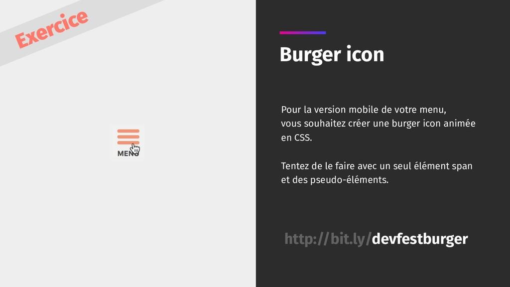 Burger icon Pour la version mobile de votre men...