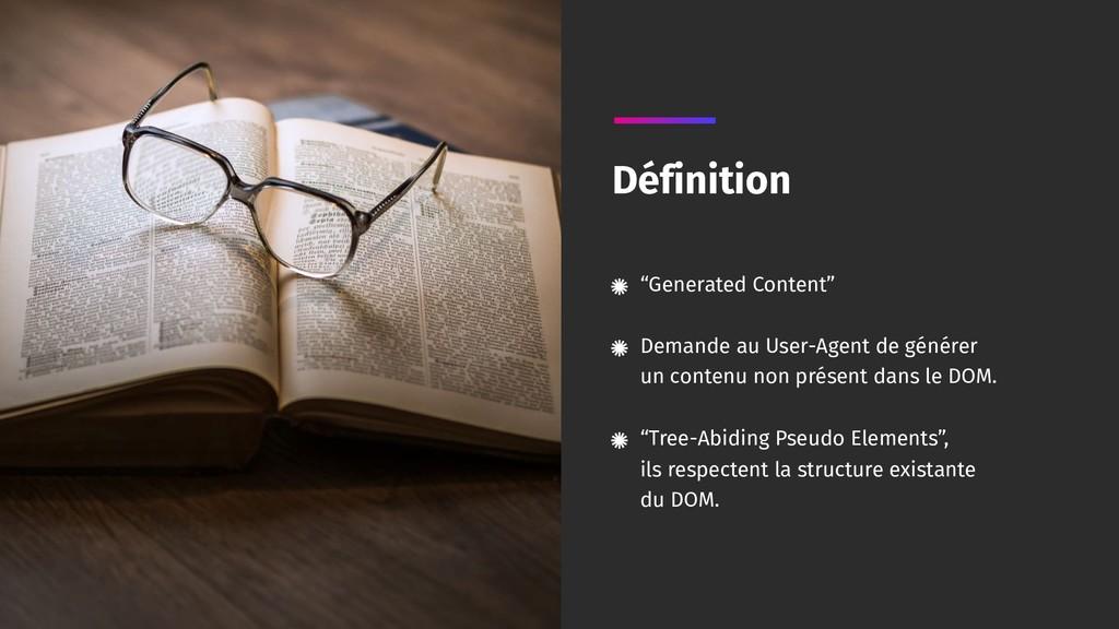 """Generated Content"" Demande au User-Agent de g..."