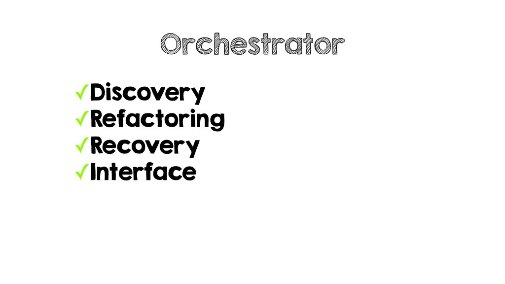✓Discovery ✓Refactoring ✓Recovery ✓Interface Or...