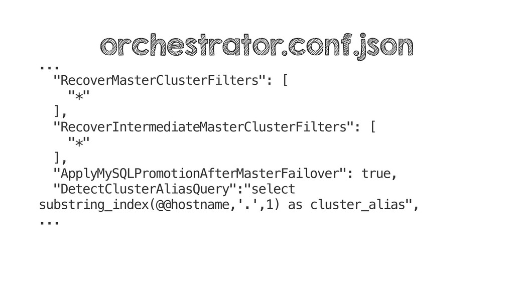 """... """"RecoverMasterClusterFilters"""": [ """"*"""" ], """"Re..."""