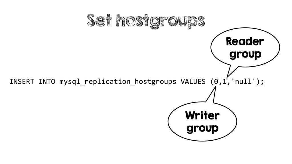 INSERT INTO mysql_replication_hostgroups VALUES...