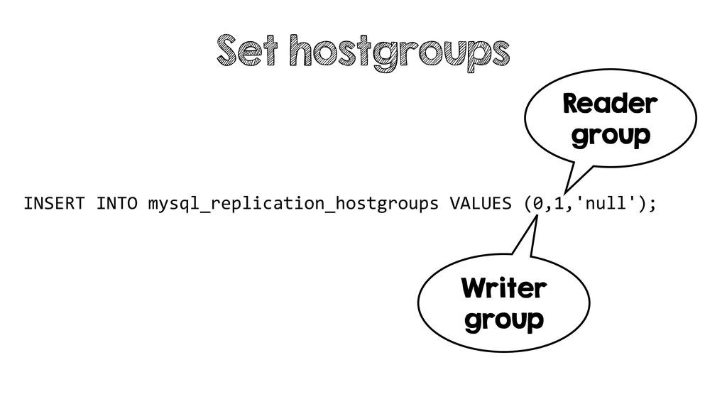 INSERT INTO mysql_replication_hostgroups VALUES...