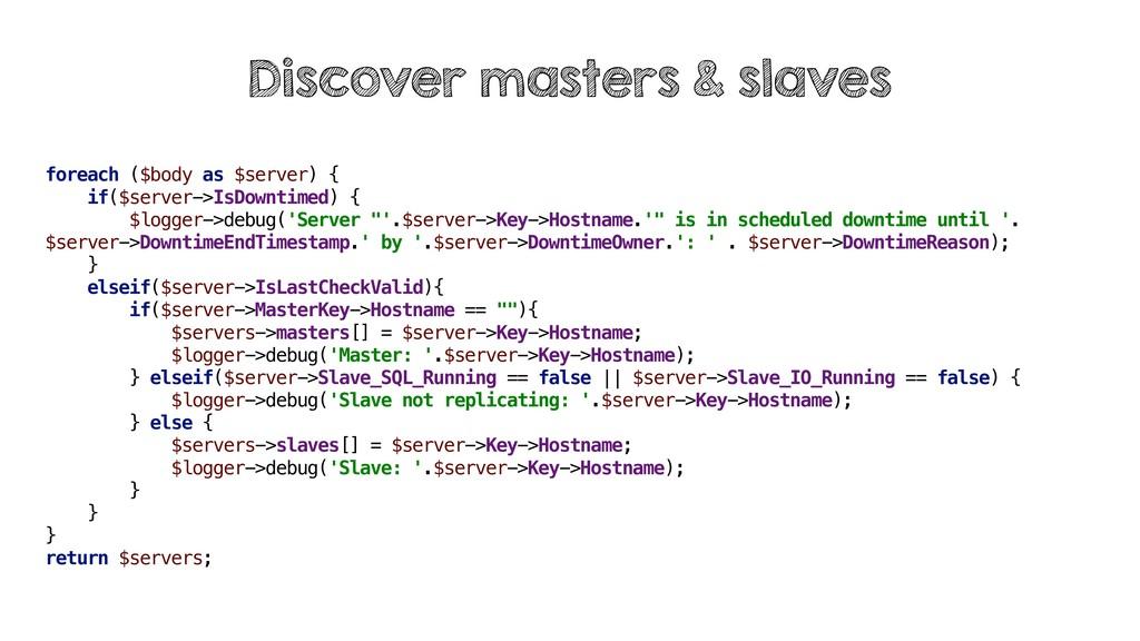foreach ($body as $server) { if($server->IsDown...