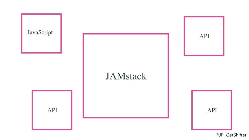 JAMstack JavaScript API API API #JP_GetShifter