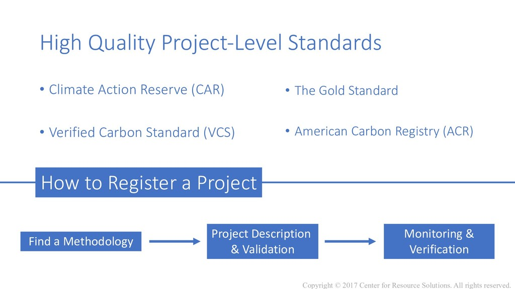 High Quality Project-Level Standards • Climate ...