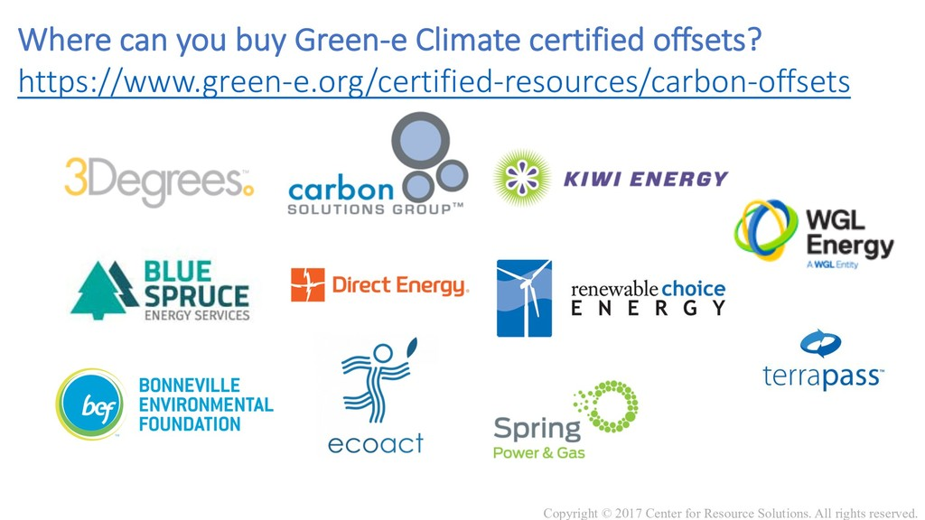 Where can you buy Green-e Climate certified off...