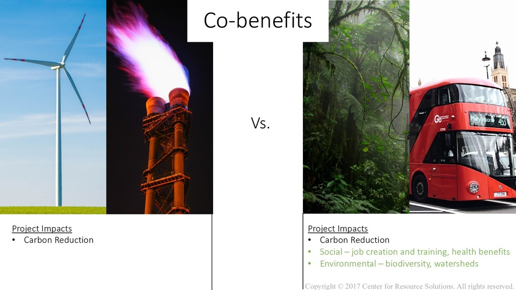 Vs. Co-benefits Project Impacts • Carbon Reduct...