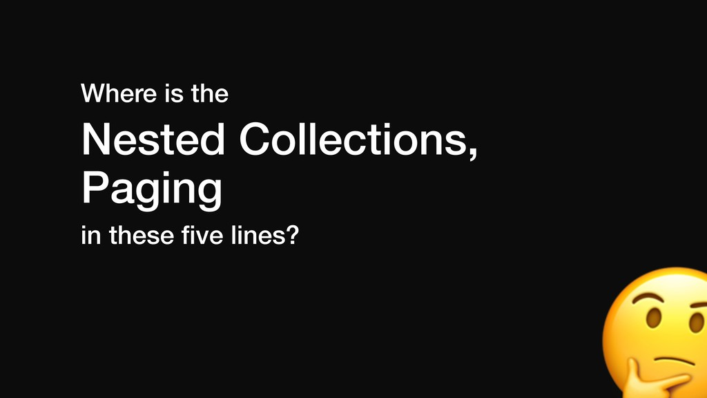 Where is the Nested Collections, Paging in thes...