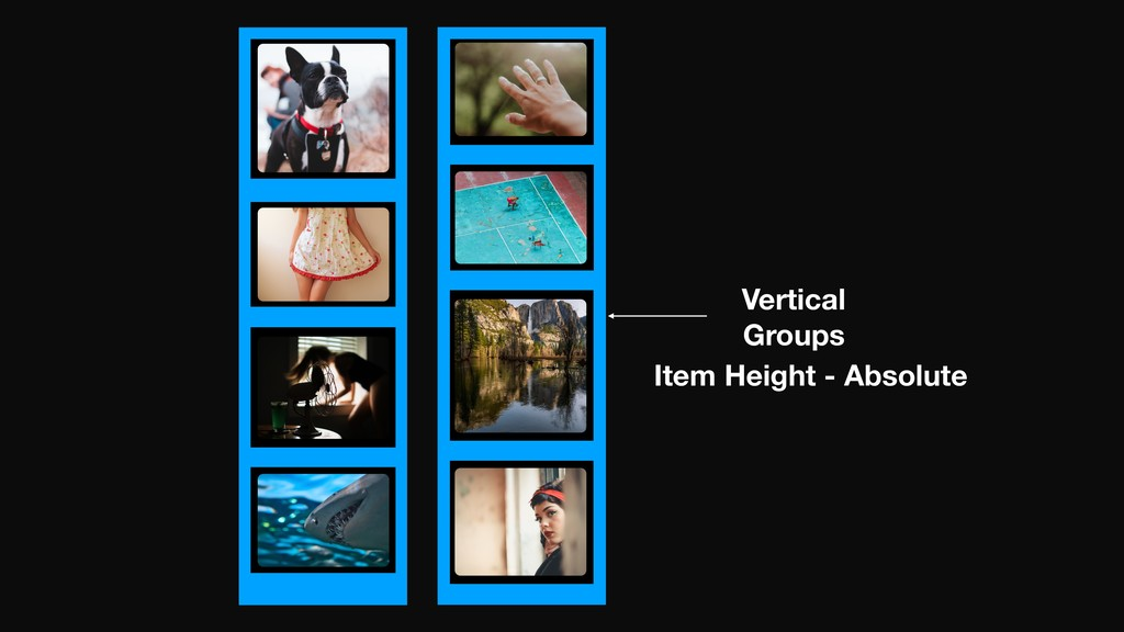 Vertical Groups Item Height - Absolute