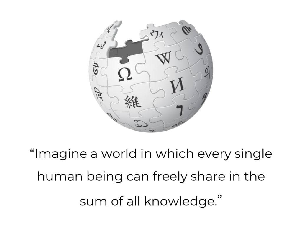 """Imagine a world in which every single human be..."