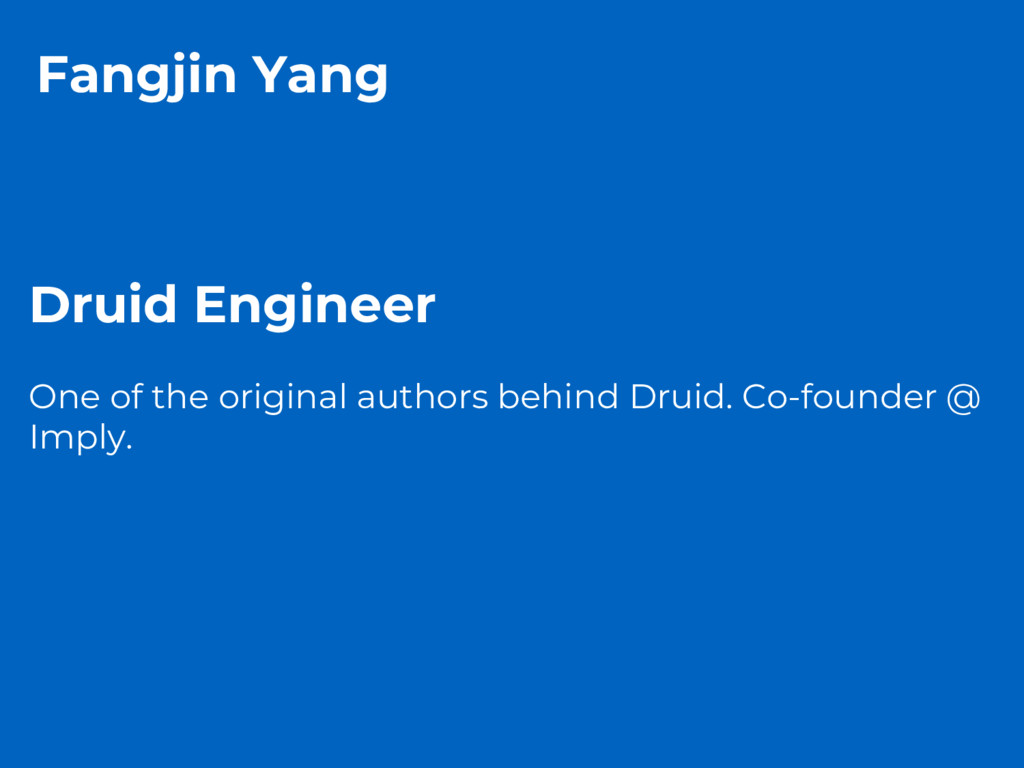 Fangjin Yang Druid Engineer One of the original...