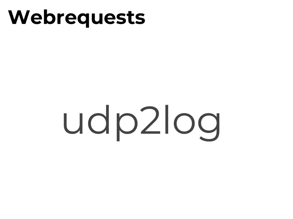 udp2log Webrequests