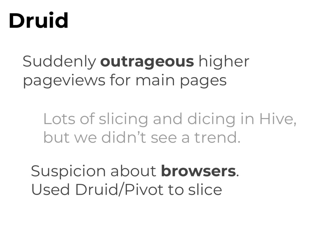 Druid Suddenly outrageous higher pageviews for ...