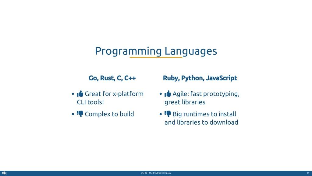 VSHN – The DevOps Company Go, Rust, C, C++  Gr...