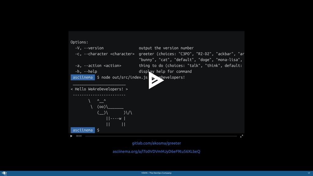 VSHN – The DevOps Company Options: -V, --versio...