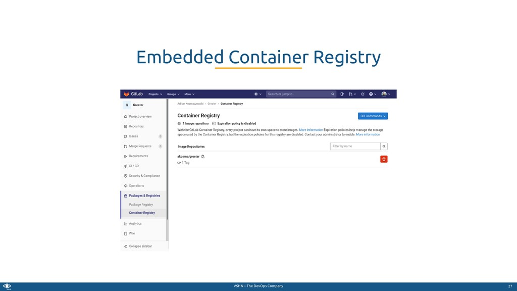 VSHN – The DevOps Company Embedded Container Re...