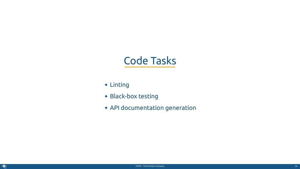 VSHN – The DevOps Company Linting Black-box tes...