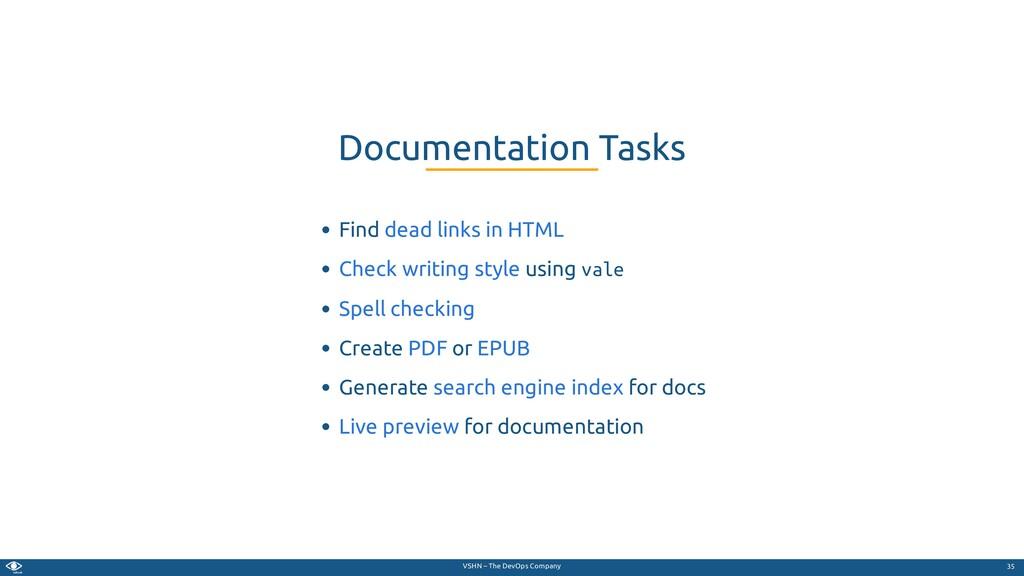 VSHN – The DevOps Company Find using vale Creat...