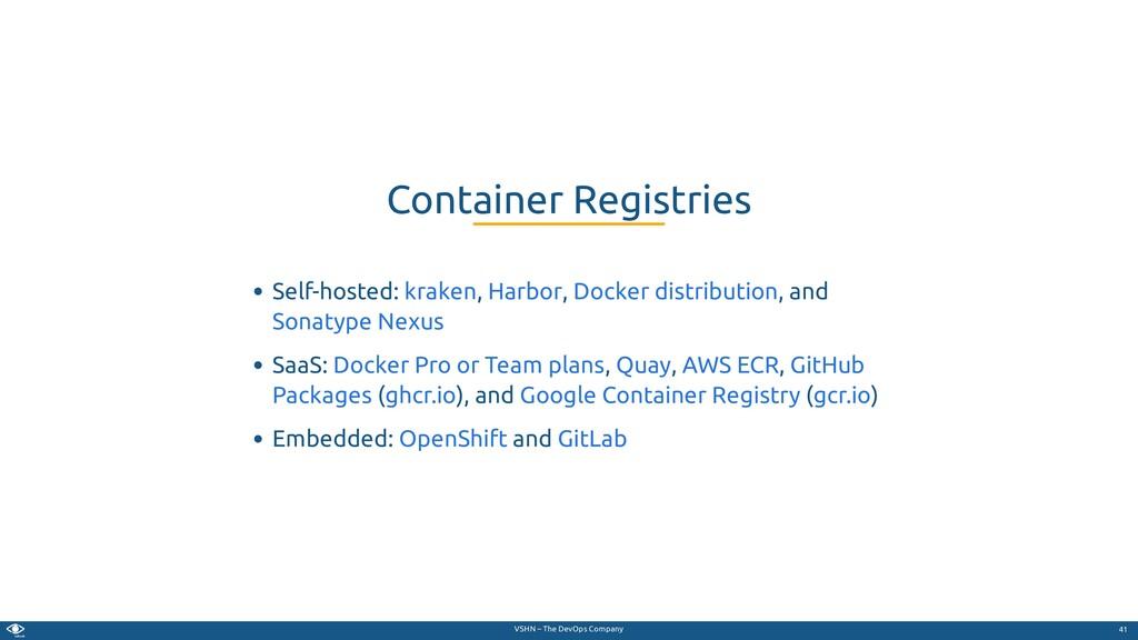 VSHN – The DevOps Company Self-hosted: , , , an...