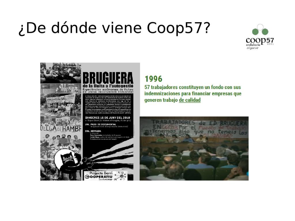 ¿De dónde viene Coop57?