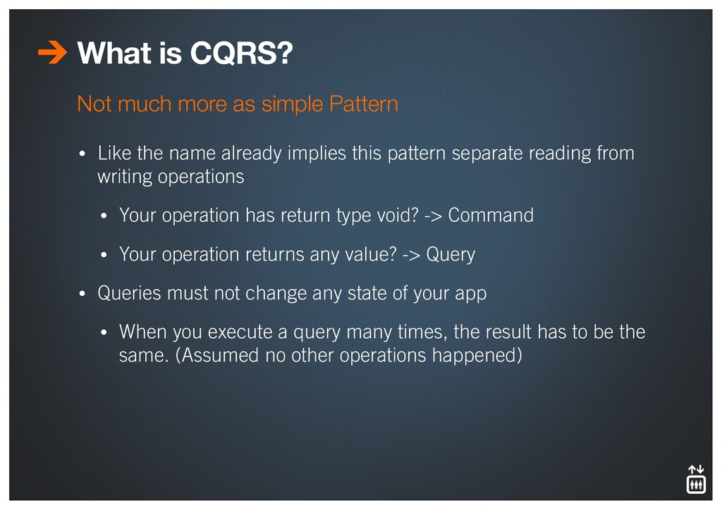 What is CQRS? • Like the name already implies t...