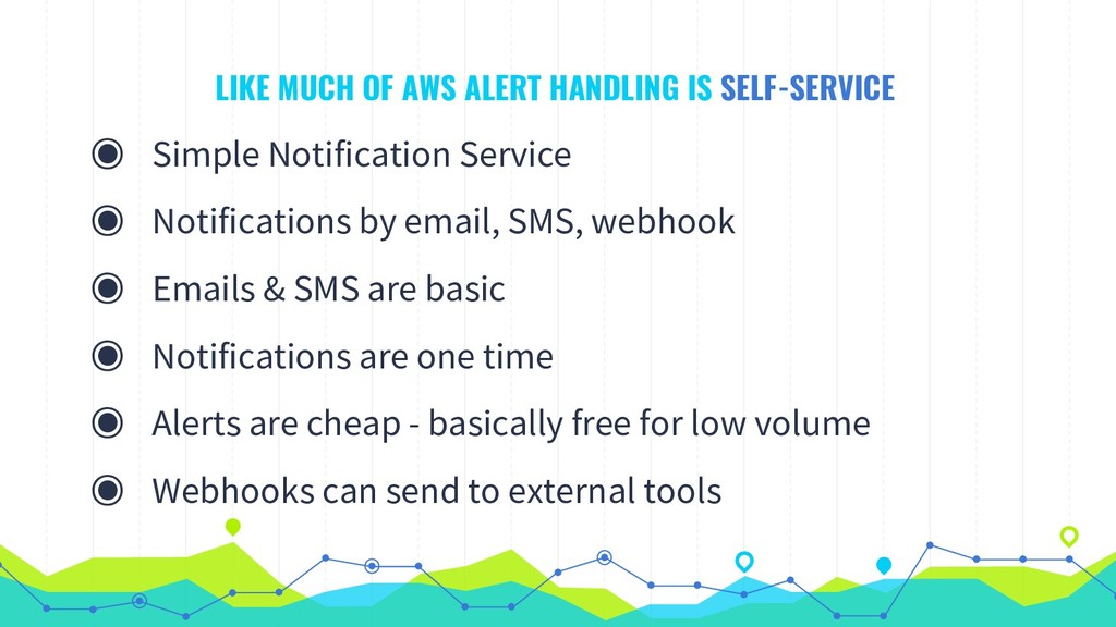 LIKE MUCH OF AWS ALERT HANDLING IS SELF-SERVICE...