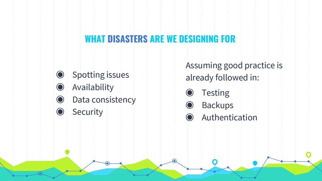 WHAT DISASTERS ARE WE DESIGNING FOR ◉ Spotting ...