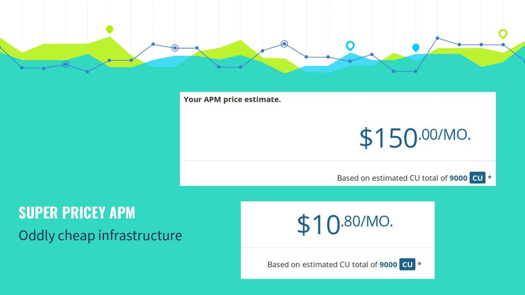 SUPER PRICEY APM Oddly cheap infrastructure