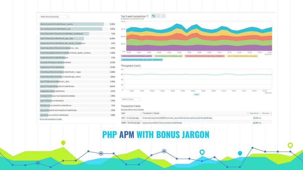 PHP APM WITH BONUS JARGON