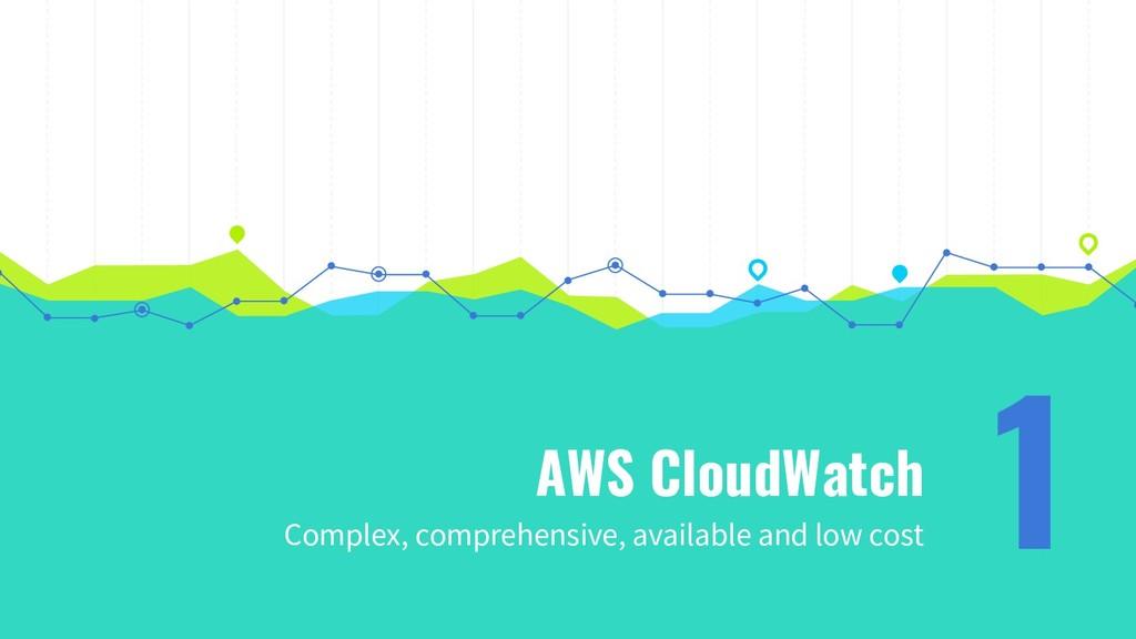 AWS CloudWatch Complex, comprehensive, availabl...