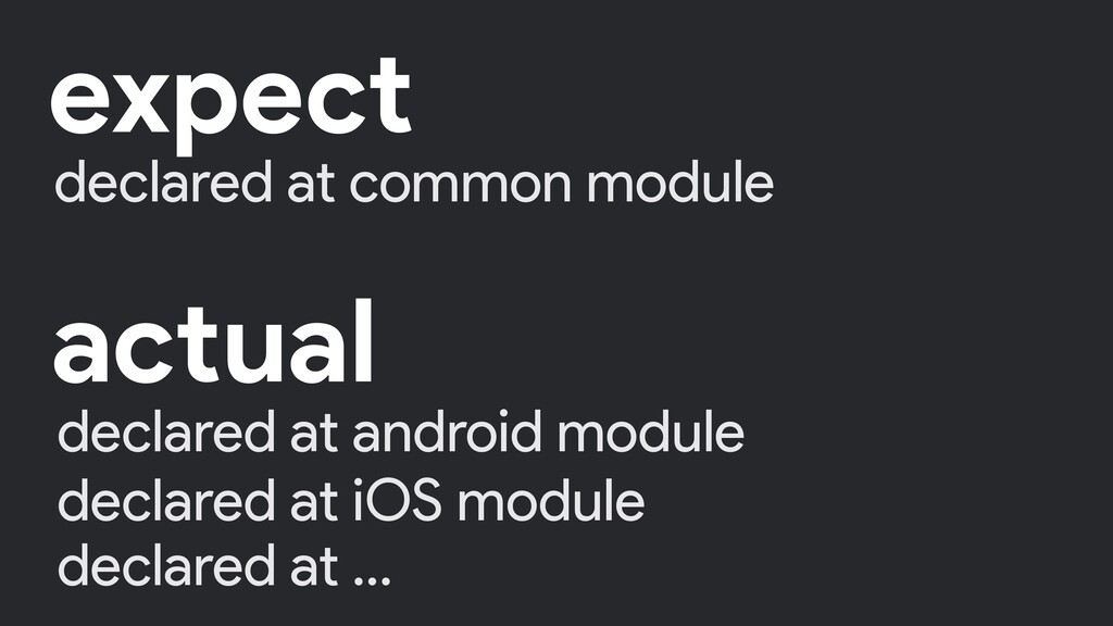 declared at common module expect declared at an...