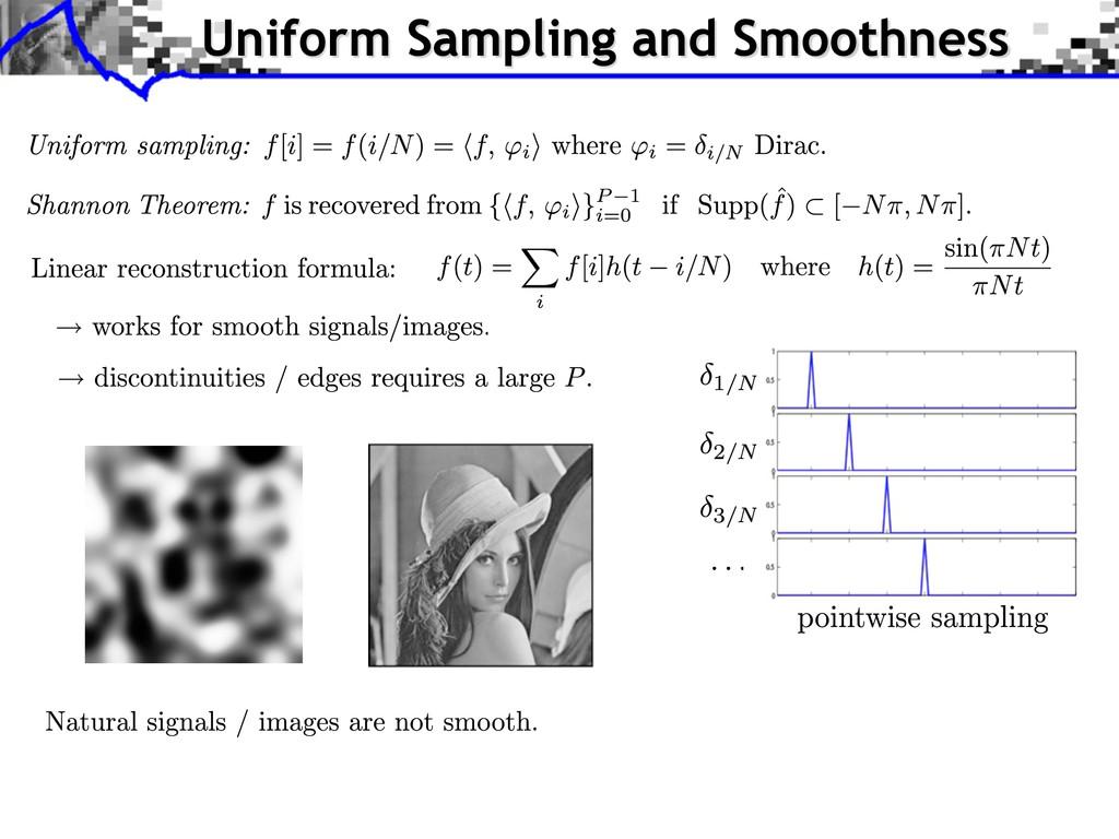 Uniform Sampling and Smoothness