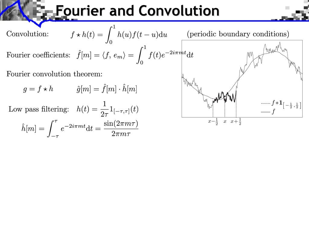 Fourier and Convolution x− x+ x 1 2 1 2 f f ∗1[...