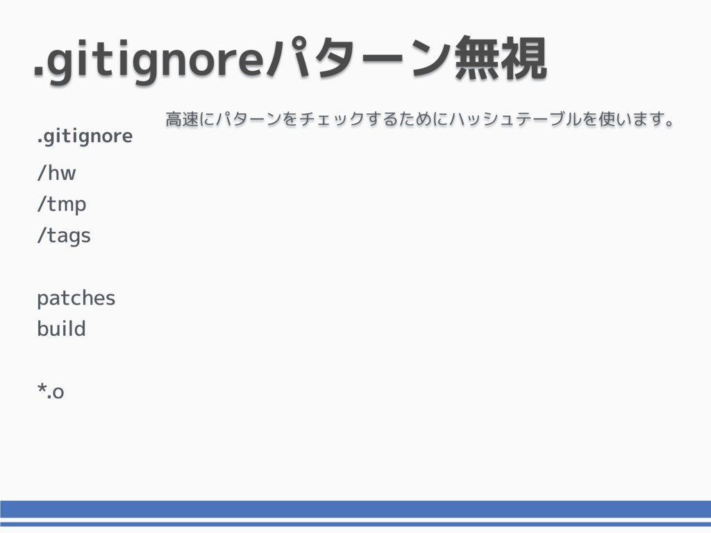 .gitignoreパターン無視 /hw /tmp /tags patches build *...