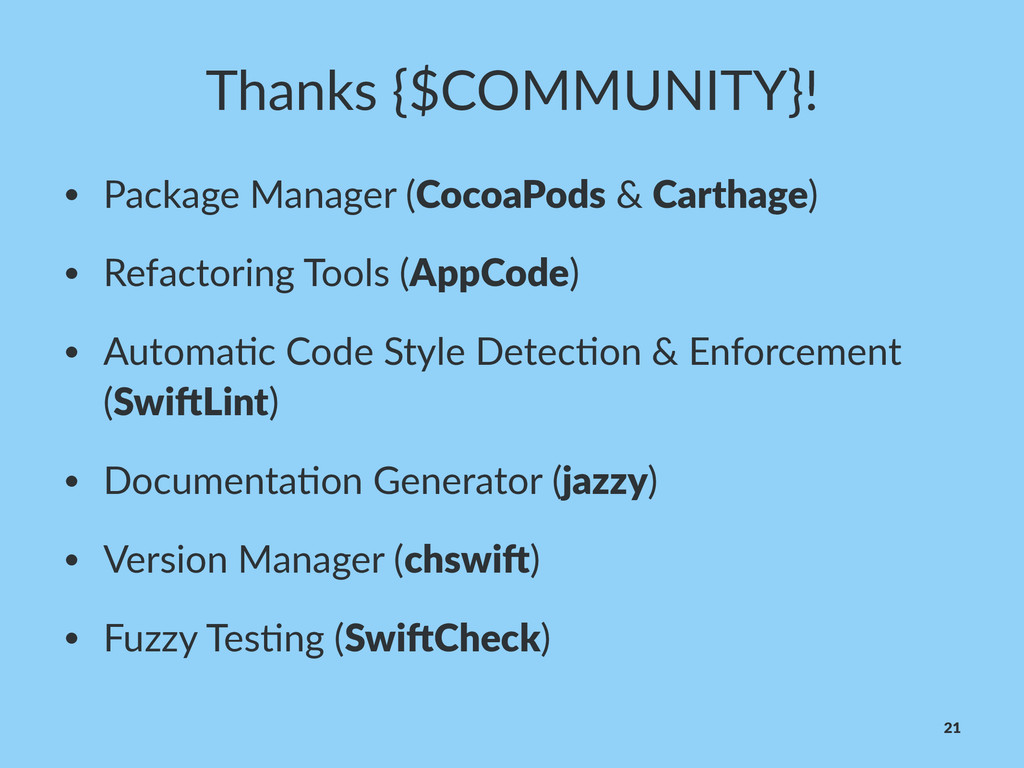 Thanks'{$COMMUNITY}! • Package(Manager((CocoaPo...