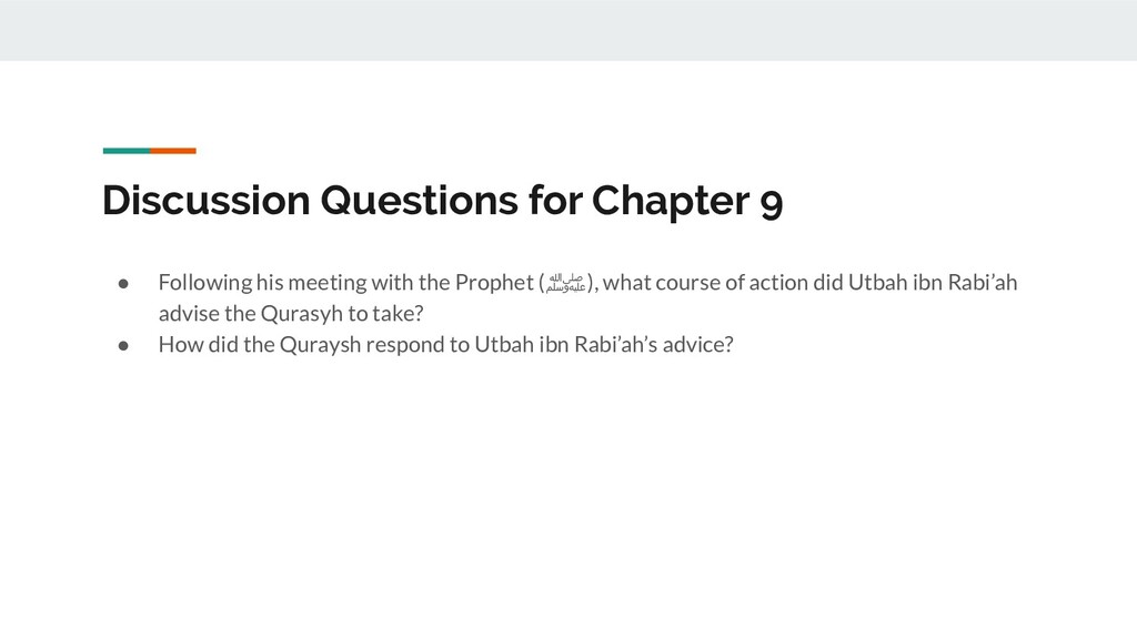 Discussion Questions for Chapter 9 ● Following ...
