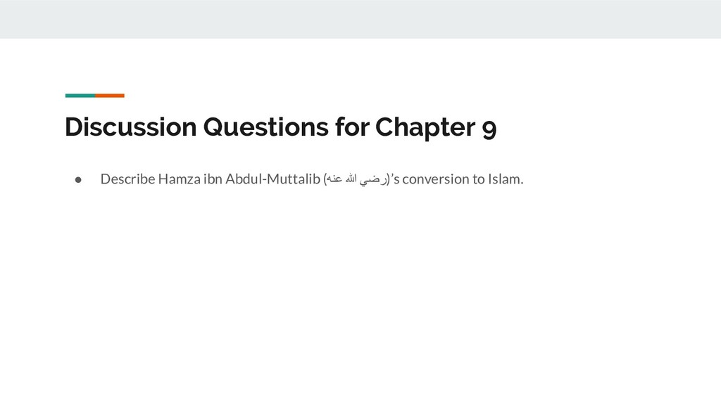 Discussion Questions for Chapter 9 ● Describe H...