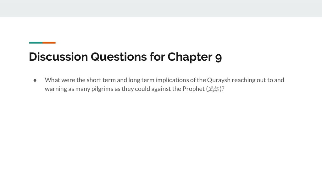 Discussion Questions for Chapter 9 ● What were ...