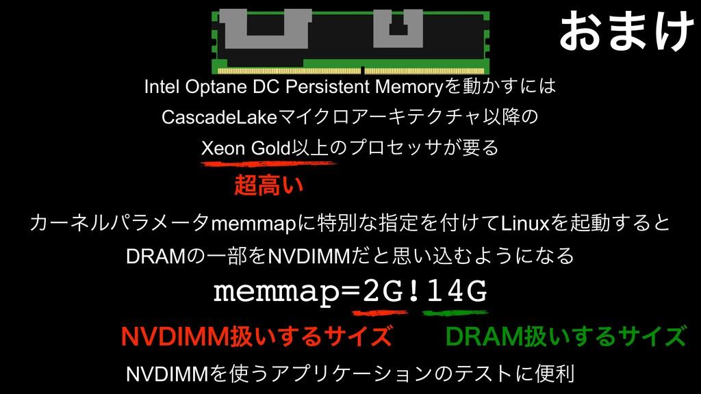 ͓·͚ Intel Optane DC Persistent MemoryΛಈ͔͢ʹ Cas...