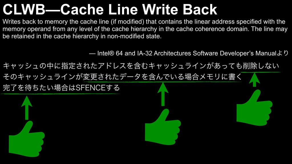 CLWB—Cache Line Write Back Writes back to memor...